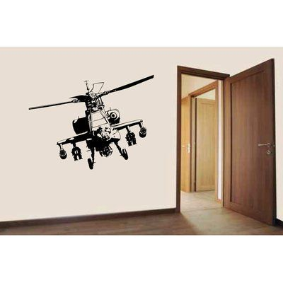 Zoomie Kids Amerina Apache Attack Helicopter Wall Decal
