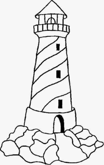 Lighthouse Coloring Pages | Rock art | Pinterest | Dibujo