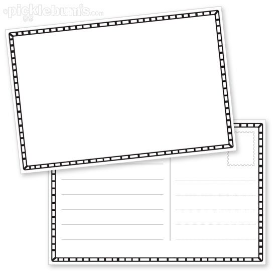 Draw Your Own Postcard Crafts Postcard Template Writing Classroom