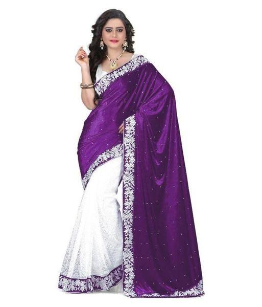 51f26298a7 #Online shopping for #Designer Velvet Border Sarees Stone Work Net Saree  For Women Available