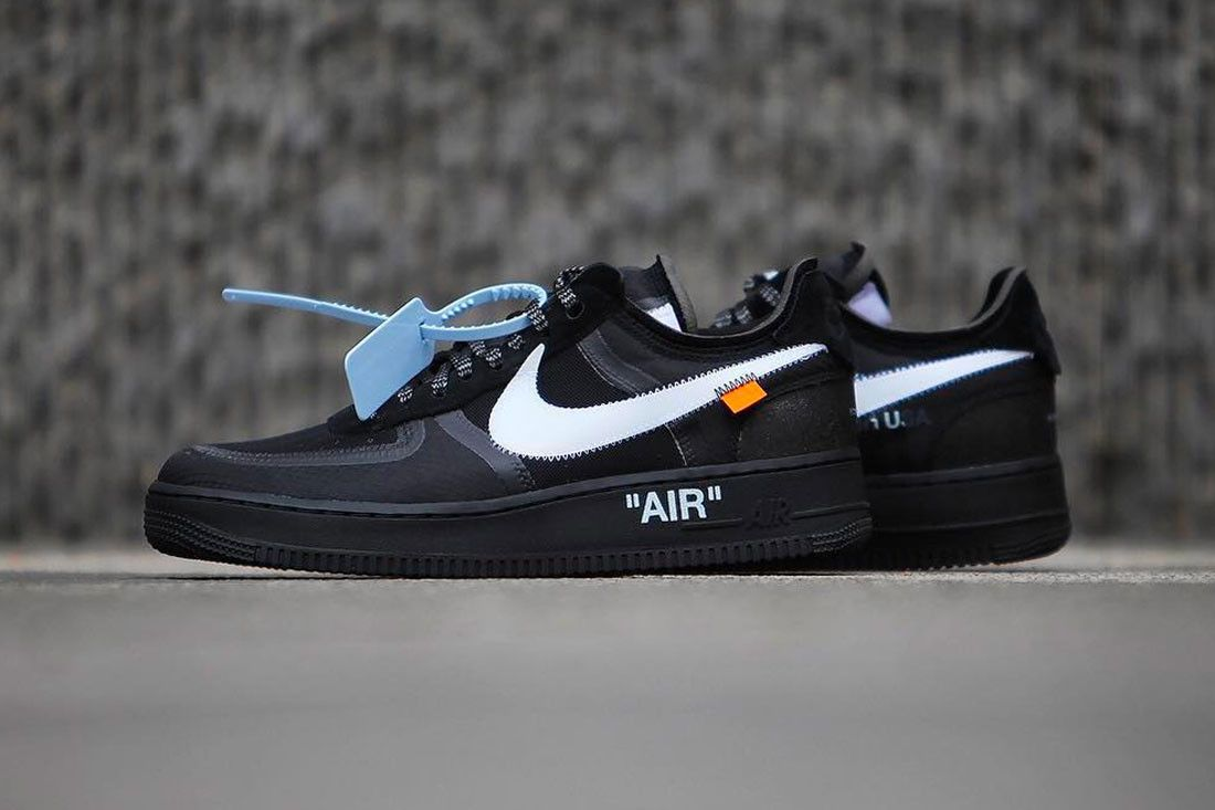 buy popular 54288 35e74 Nike Off White Air Force 1 af1 Black Cone Volt Release december 19 2018  price black neon yellow Virgil Abloh AO4606-001 AO4606-700