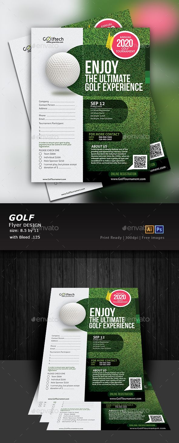 Golf Tournament Flyer Template Psd Vector Eps Ai Flyer Templates