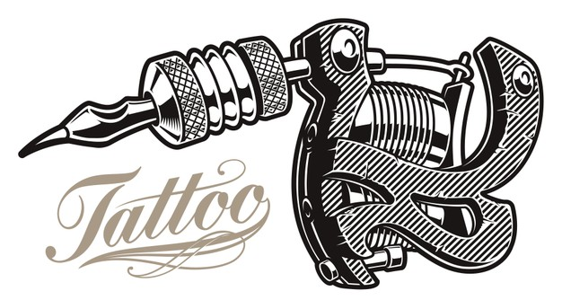 Illustration Of A Tattoo Machine On A White Background All Items Are In Separate Groups Vector Illustration Tattoo Machine Illustration