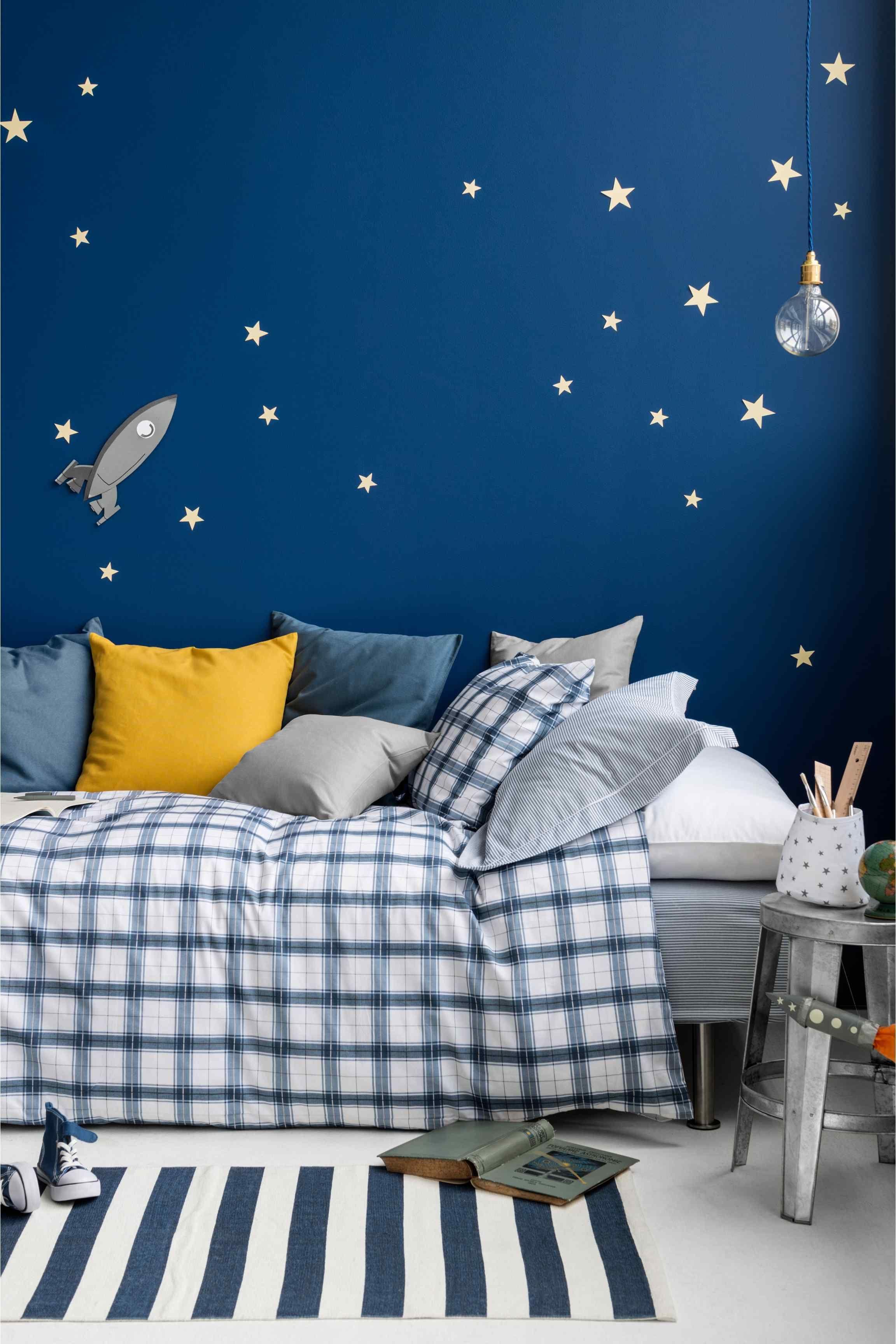 Space Bedroom Wallpaper Conjunto De Edredalbo Starry Nights Glow And Kid