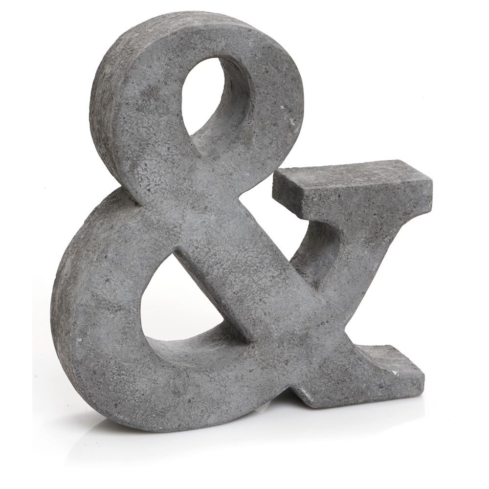 Wilko Concrete Ampersand | Concrete Artifacts | Pinterest | Concrete ...