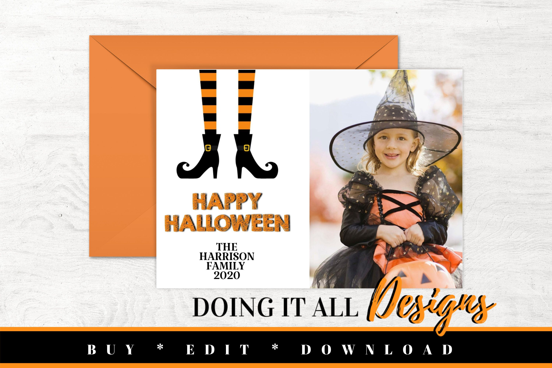 Happy Halloween 2020 Printable Halloween Photo Card, Halloween Card Template, Printable Photo