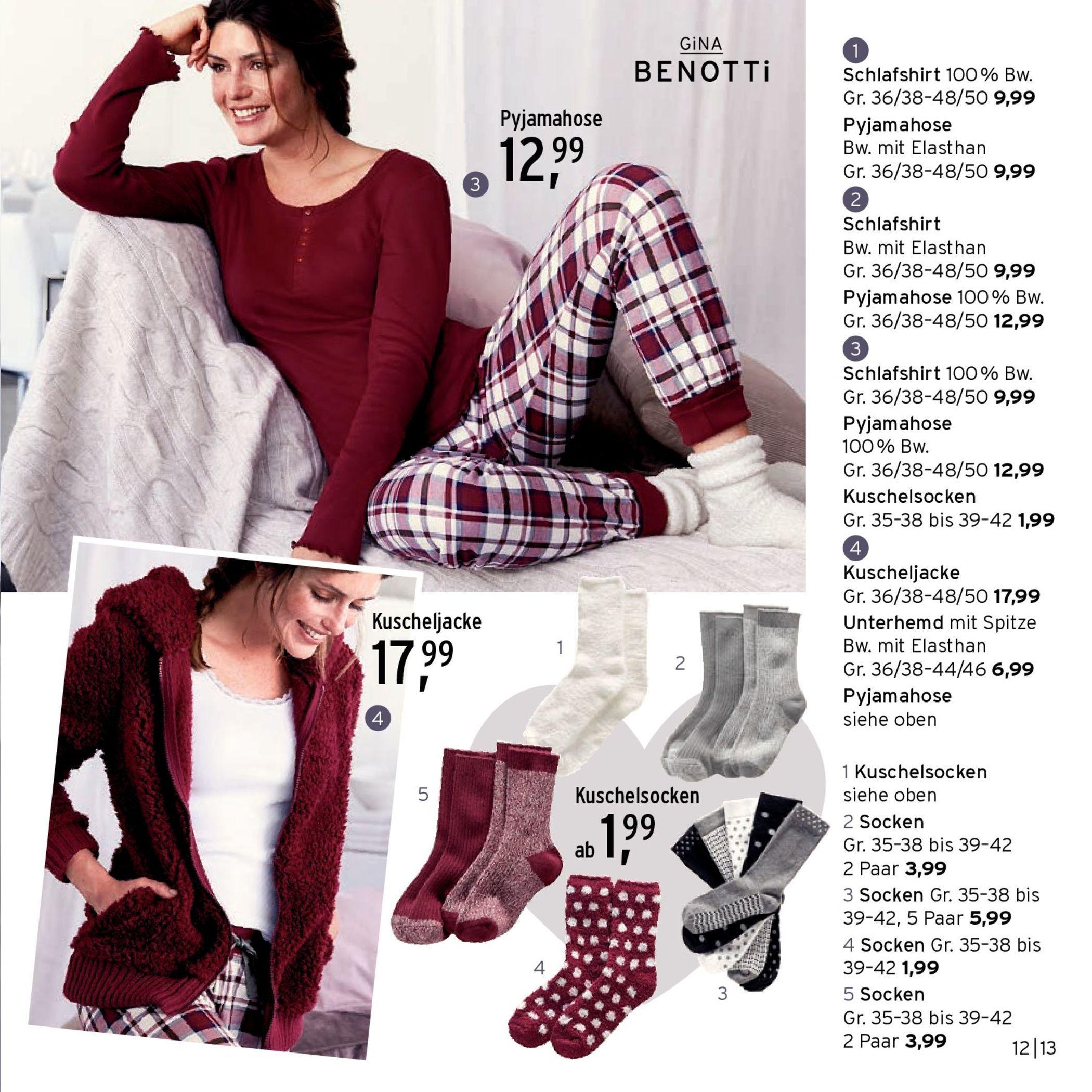 Prospektbox Kuschelzeit Aus Seite 14 Prospekt September 2016 Pyjamahose Schlafshirt Pyjama