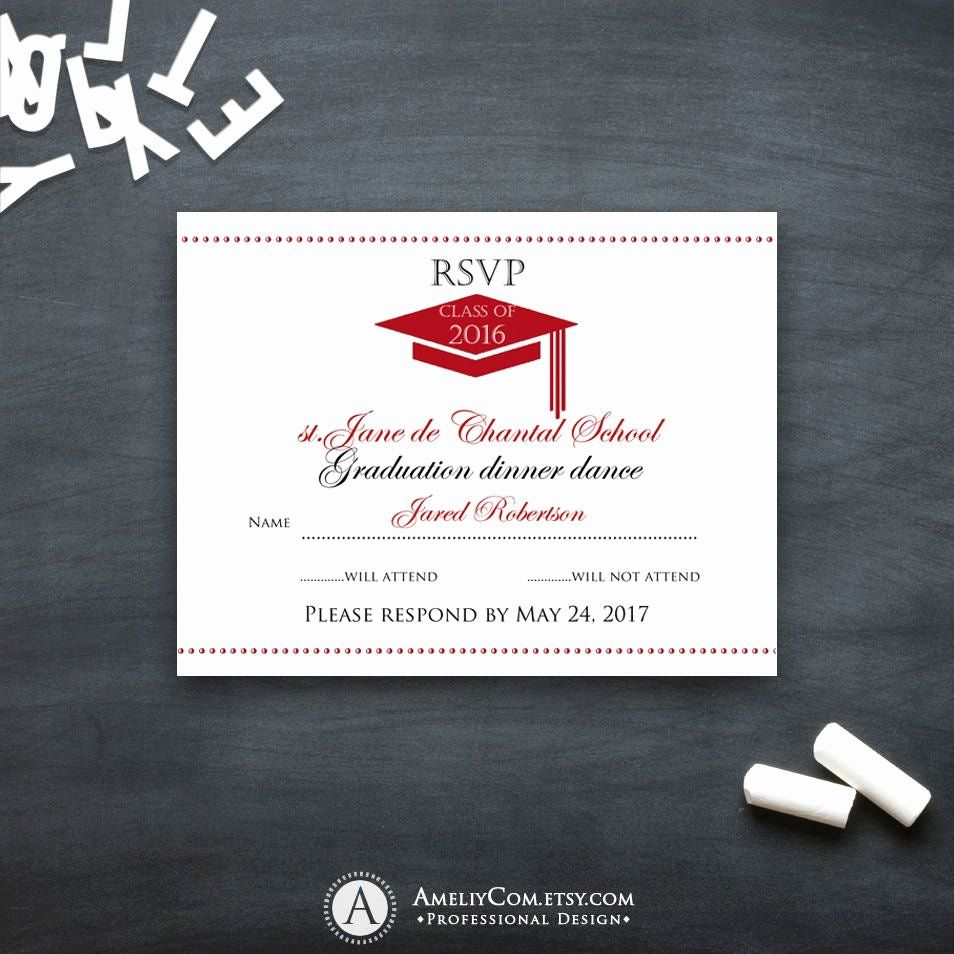 Free Printable Graduation Name Cards New Graduation Rsvp Card Printable Templat Template Printable Graduation Party Invitations Templates Party Invite Template