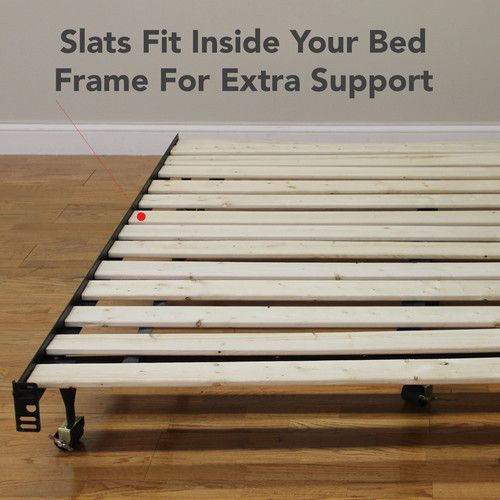 Classic Brands Solid Wood Bed Support SlatsBunkie Board Twin Standard New