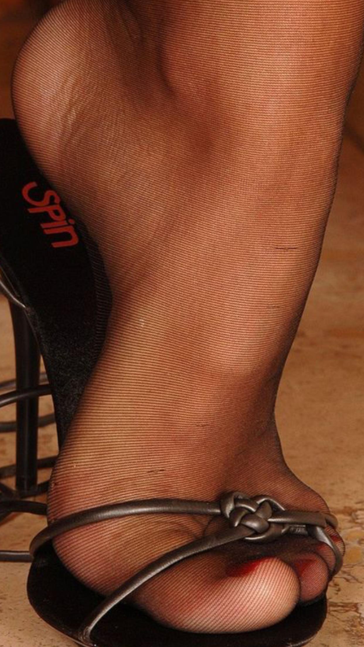Ebony Stocking Feet 87