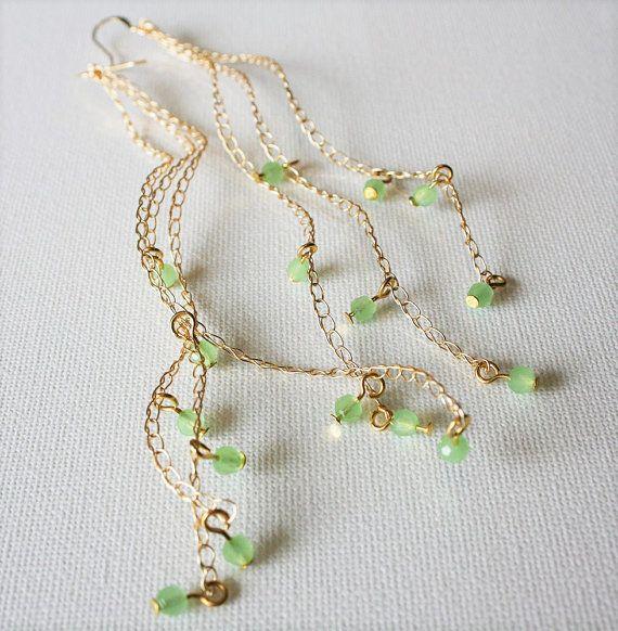 Lange Ohrringe Gold Perlen Ohrringe Draht Häkeln Ohrringe Stricken