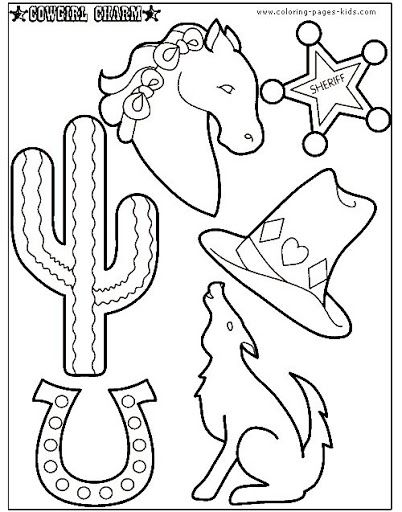 Cowboy Coloring Pages For Children Cowboy Color Page Coloring
