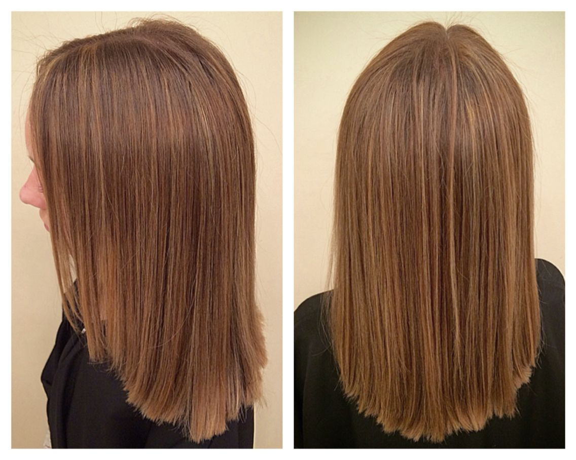Balayage Hand Painted Blonde Highlights On Brown Hair Looks Great