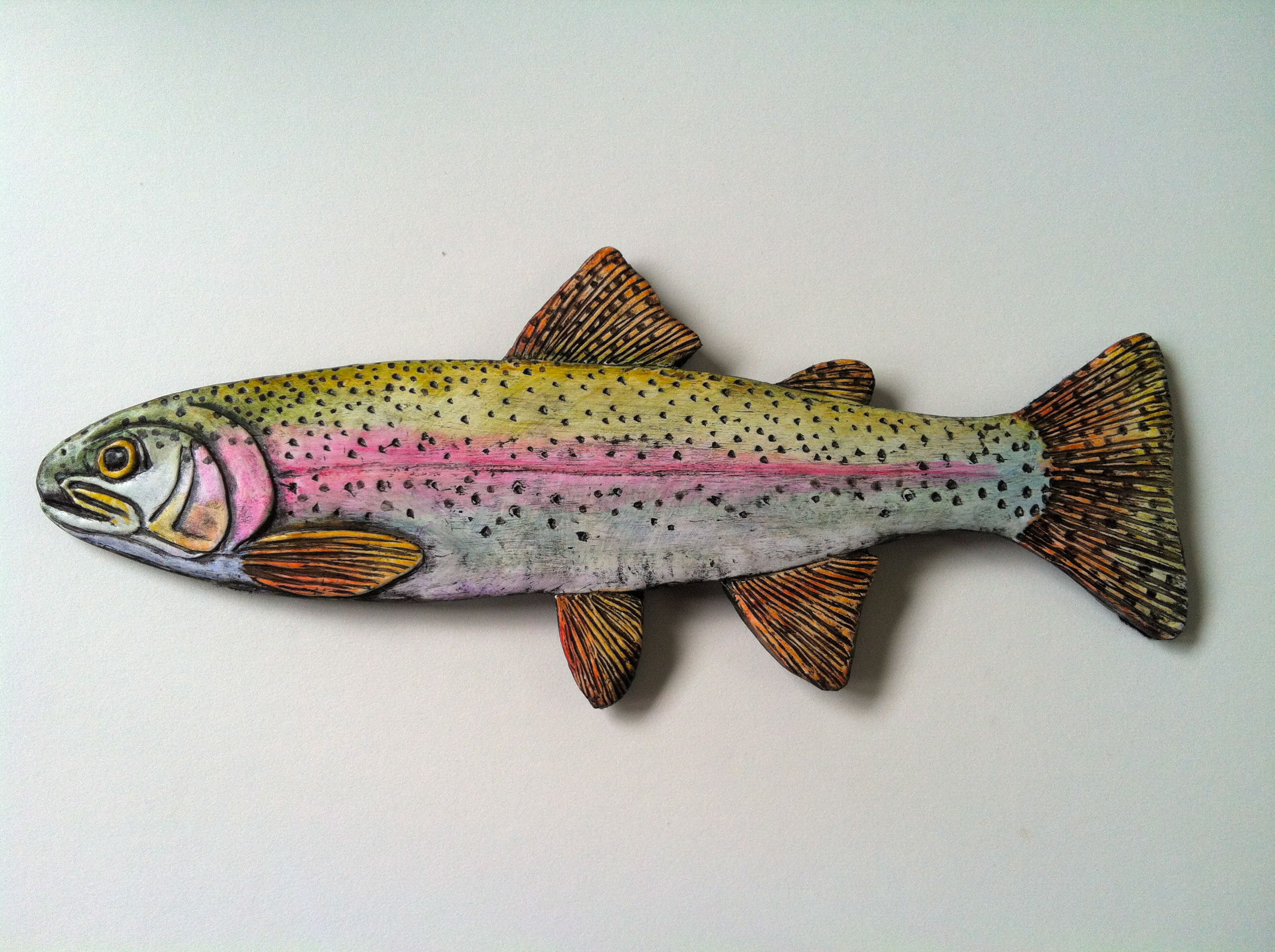 Paper Clay rainbow trout. | Paper Clay Art | Pinterest