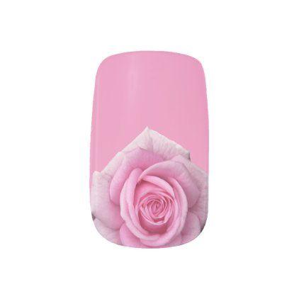 Roses Fingernail Decals Pink Rose Nail Art Decals | Zazzle.com