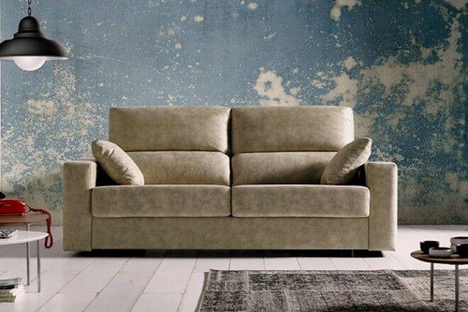 Sofa cama dise o italiano la cama se hace de 140cm sof s for Camas plegables diseno italiano