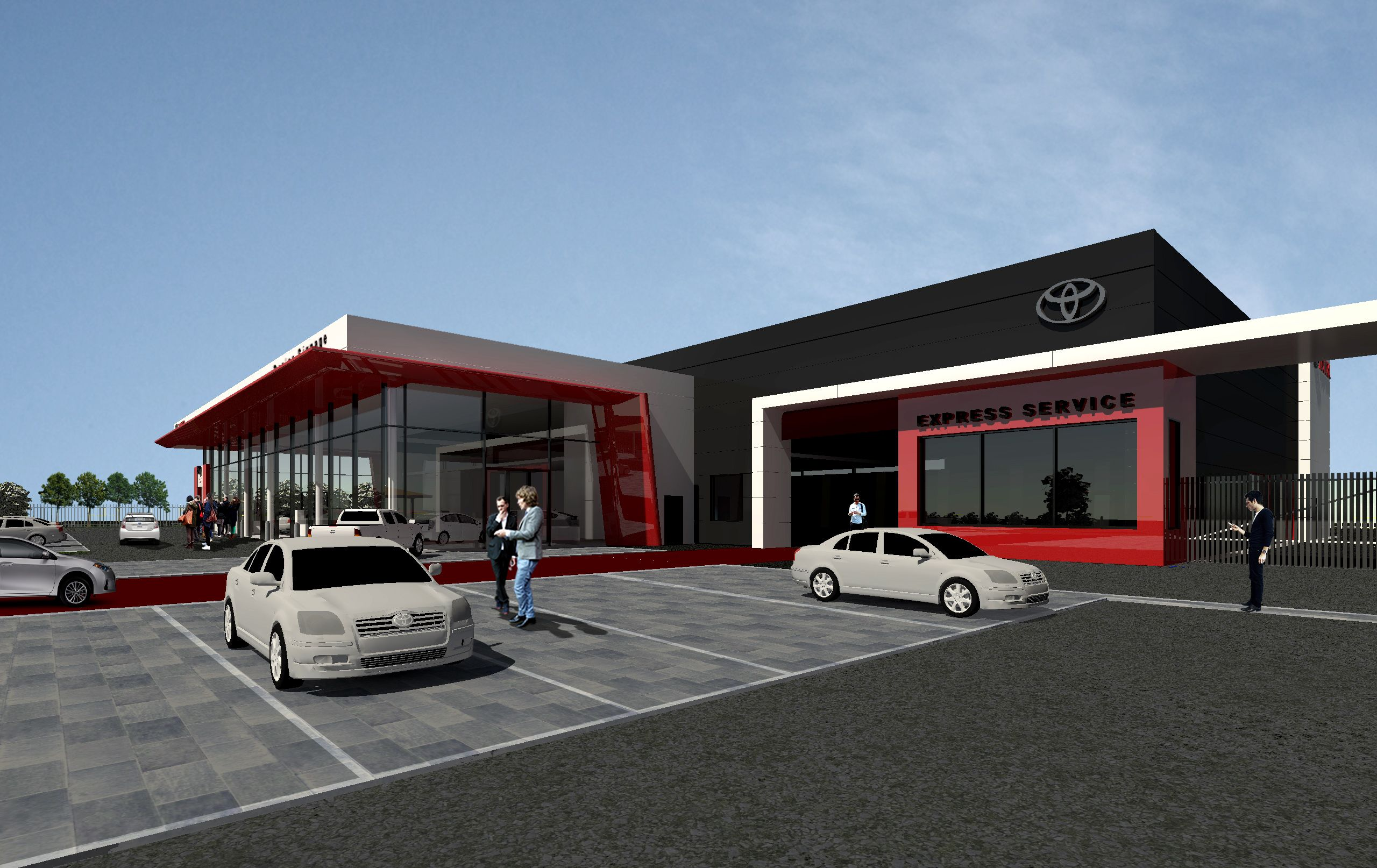As a proposal for the latest addition to the Liffey Valley Motor Mall at Liffey Valley Shopping centre NODE have dsigned a flagship car showroom and service centre for Toyota Ireland and Kileen Motor Group. The 30000 sq.ft. facility will offer new and used car sales and a comprehensive service offer to Toyota customers.  Architecturally the sales and service volumes are expressed in contrasting colours white and dark grey respectively with key features including a canopy that cantilevers…