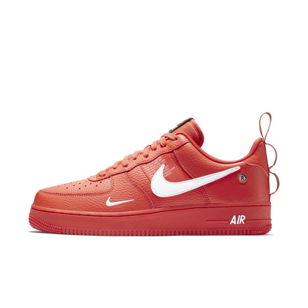 4315a8a524d951 Nike Air Force 1  07 LV8 Utility Men s Shoe Size 10.5 (Team Orange ...