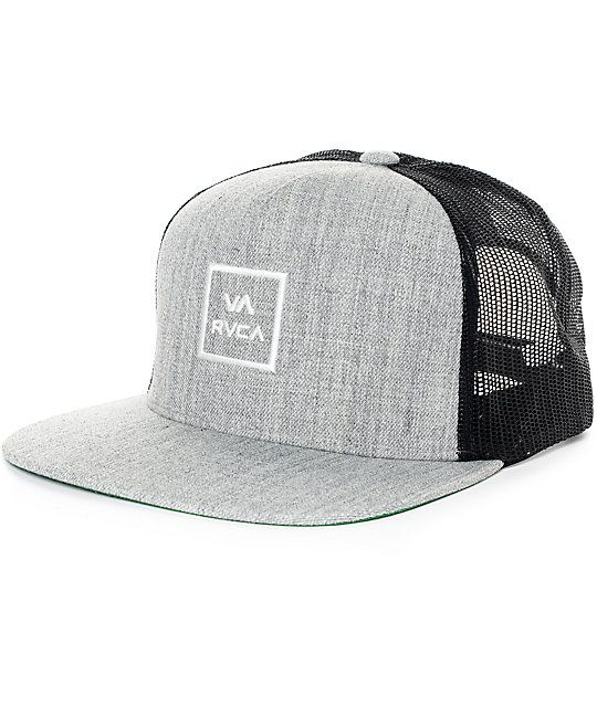 6c3beb848db RVCA VA All The Way Heather Grey Trucker Hat in 2019