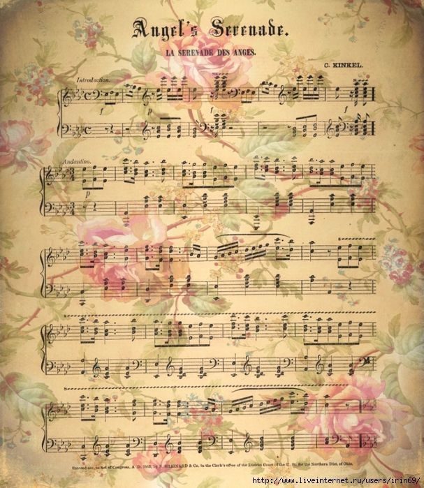 Pinterest decoupage for Paper roses sheet music free