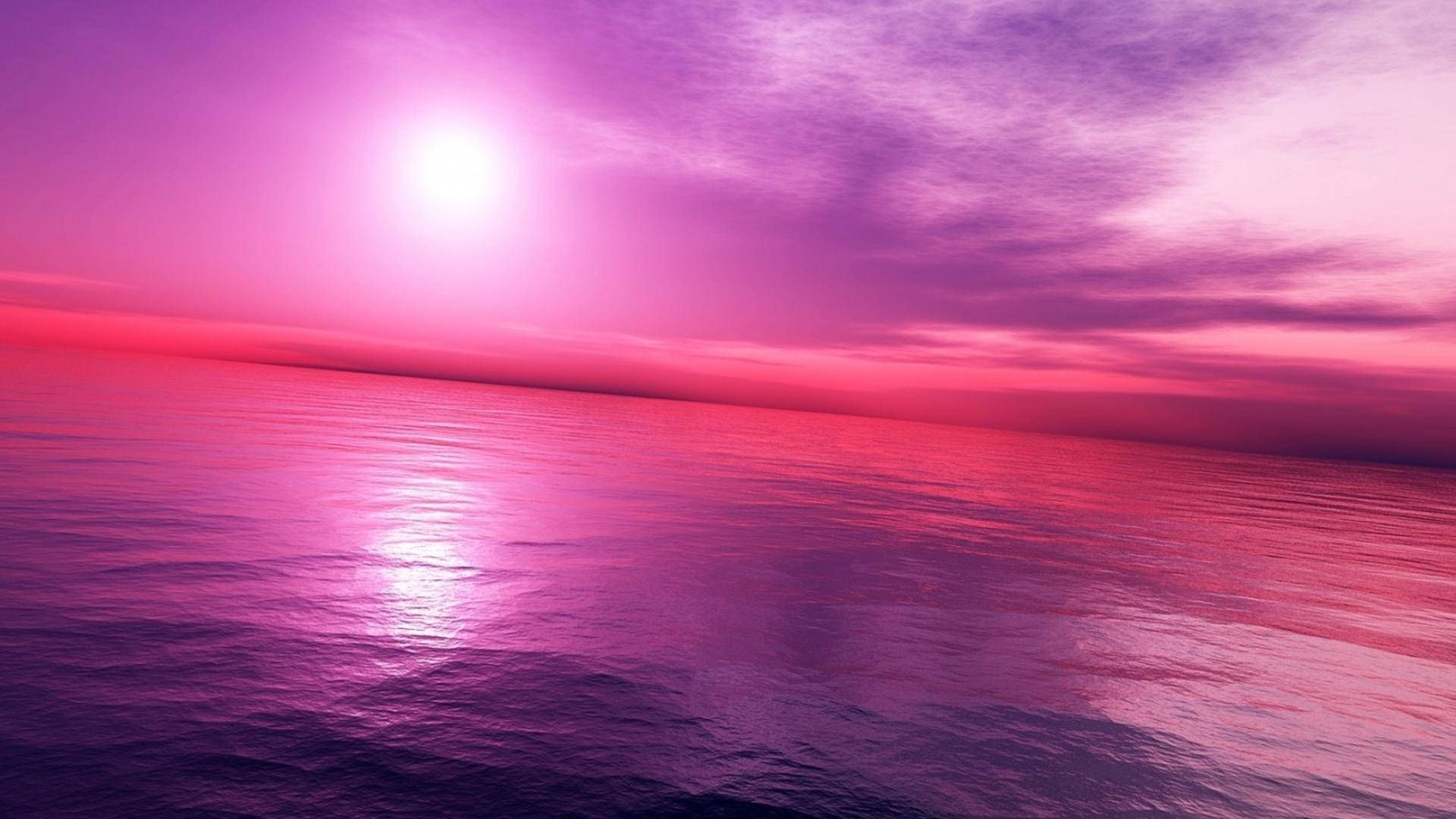 190693 Pink Sky And Ocean Wallpaper Hd Image Backgrounds