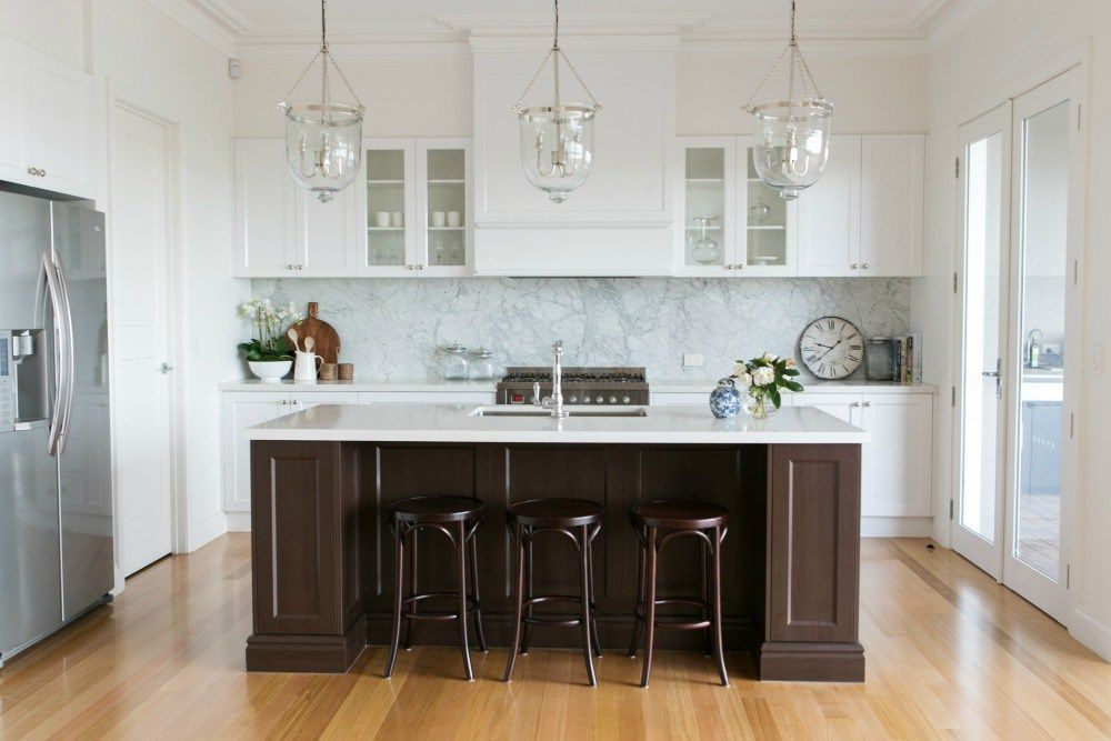 Kitchen Island Bench room tour: a hamptons kitchen | hamptons kitchen, kitchen island