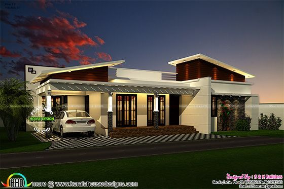 Contemporary Look Single Floor 1200 Sq Ft Architecture House