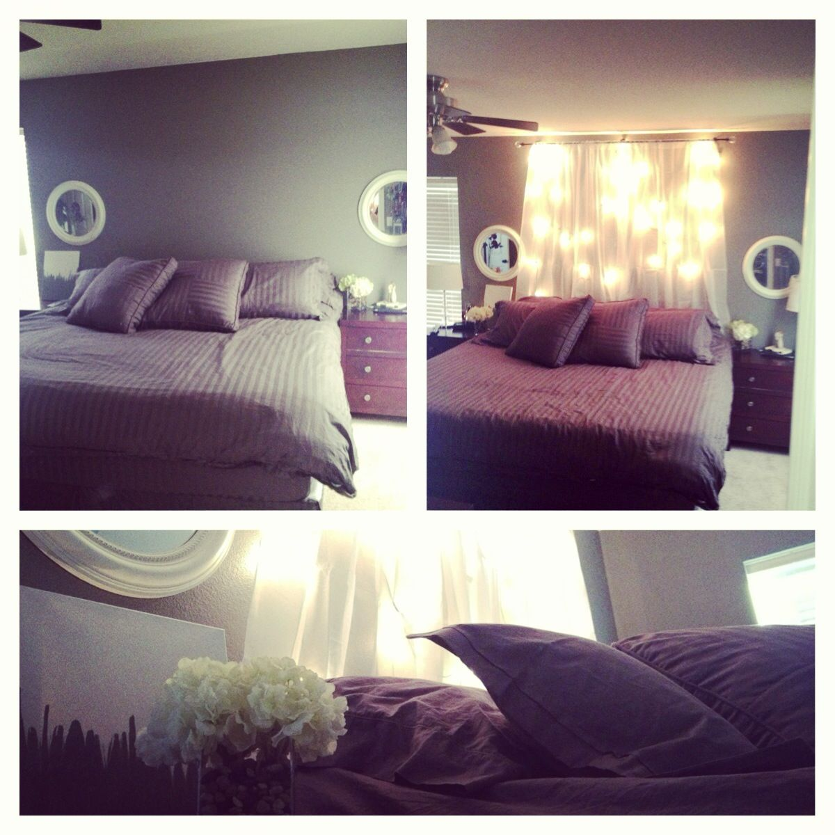 Bed backdrop instead of headboard projects brought to - What to use instead of a headboard ...