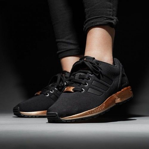 3280458a2c6 ADIDAS ORIGINALS ZX FLUX METAL BLACK  GOLD 36-44
