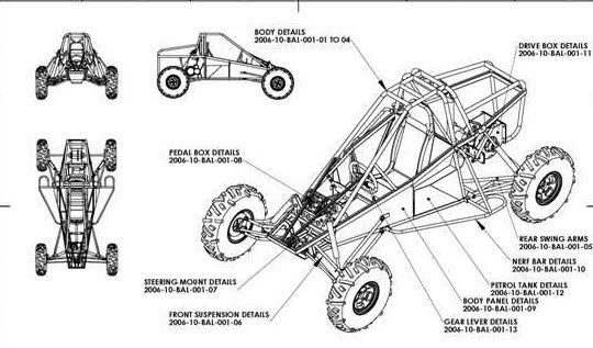 cross kart frame plans