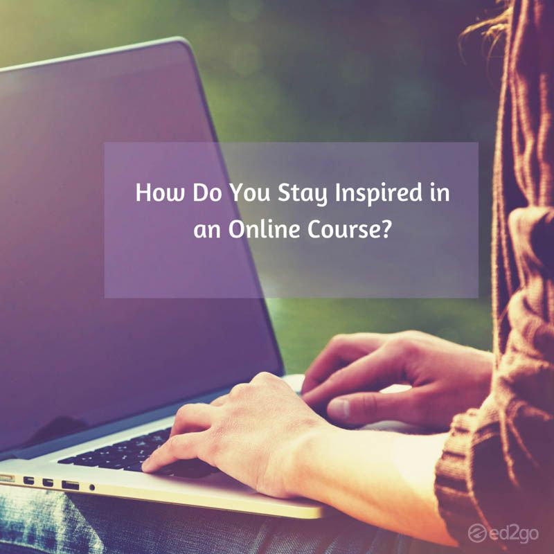 On the blog: How to Stay Inspired in an Online Course!