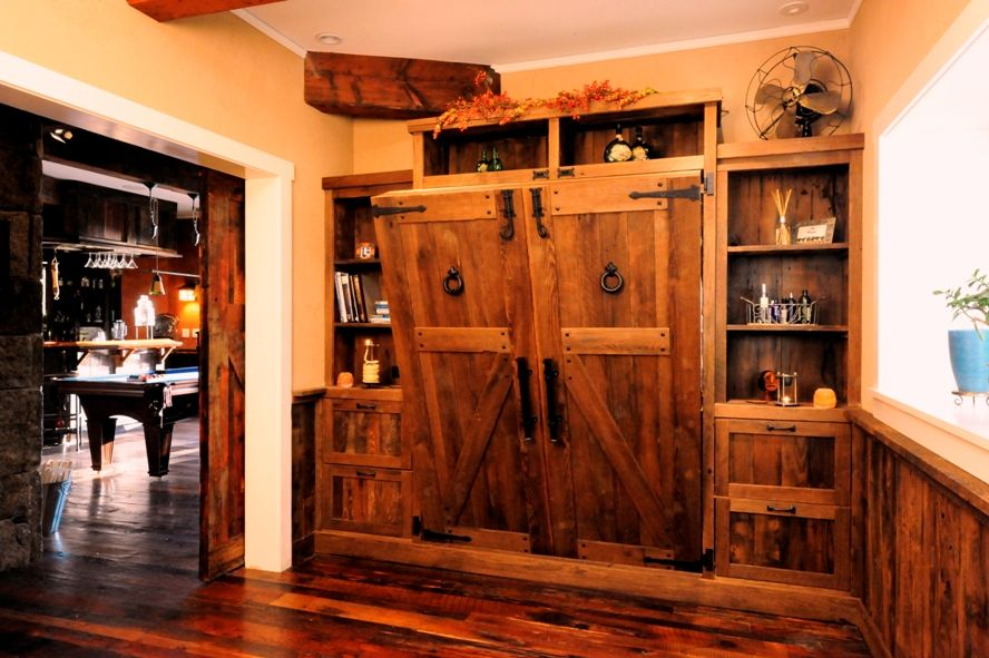 custom design home antique reclaimed wood murphy wall bed on wall beds id=60606