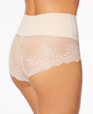 88fb6049fabc Spanx Women's Undie-tectable Lace Hi-Hipster Panty SP0515 - Tan/Beige XL
