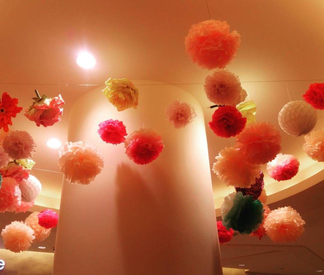 ここは盲点だった 披露宴会場の天井を可愛くデコレーションした