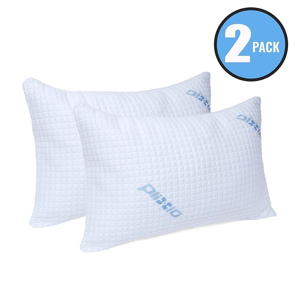 Shredded Memory Foam Pillow With Bamboo Hypoallergenic Cover 2