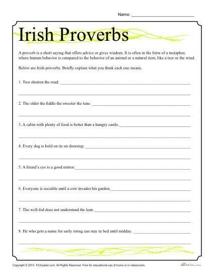 St. Patrick\'s Day Worksheet