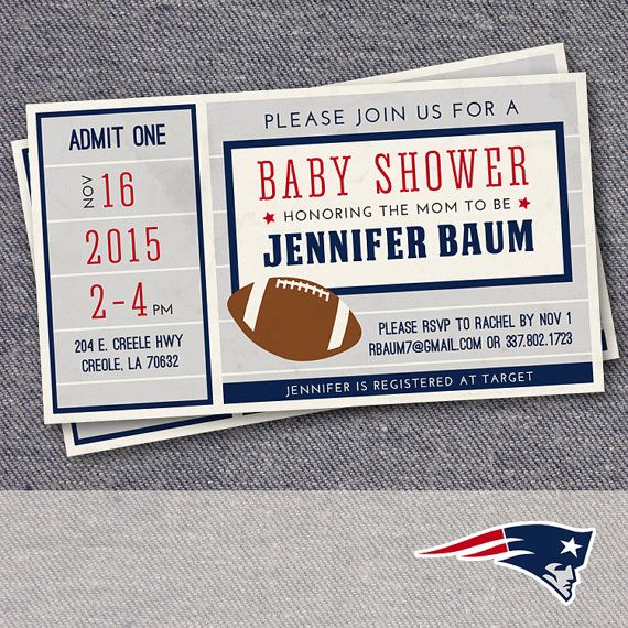 Football baby shower invitation in chalkboard by 2birdstudios - foot ball square template