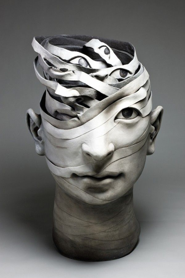Haejin Lee Ceramic Sculptures Ego Alterego Portrait Sculpture Sculpture Art Sculpture Head