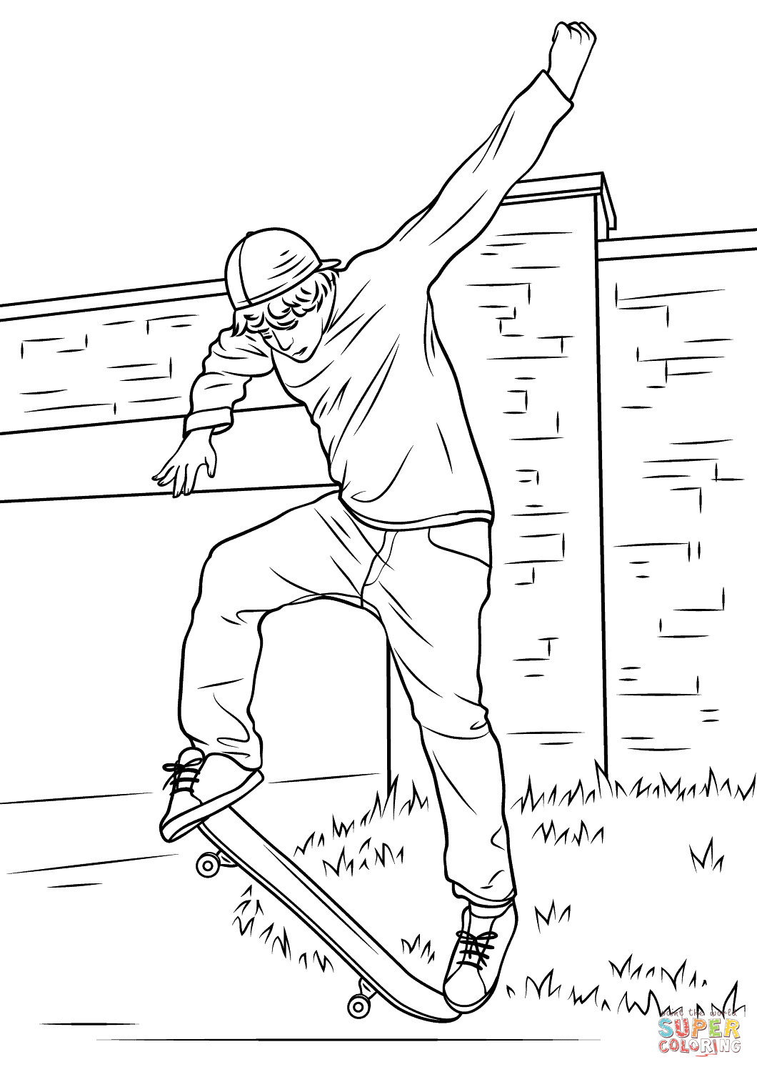 Drawing Boy And Skateboard Google Search Coloring Pages Skateboard Skateboard Boy