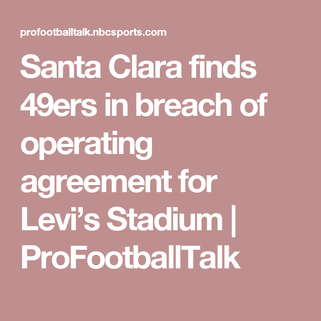 Santa Clara Finds Ers In Breach Of Operating Agreement For