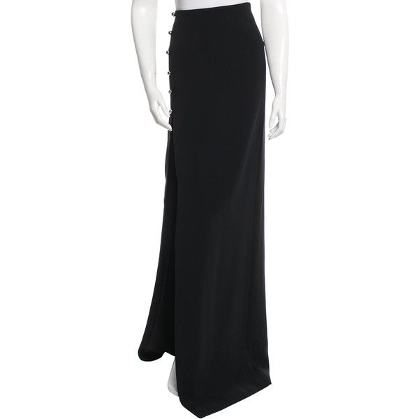 Pre-owned Mugler Fitted Maxi Skirt ($425) ❤ liked on Polyvore ...