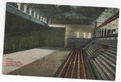 Interior Of Basket Ball Court At Havana Habana Cuba 1910-1920 PC