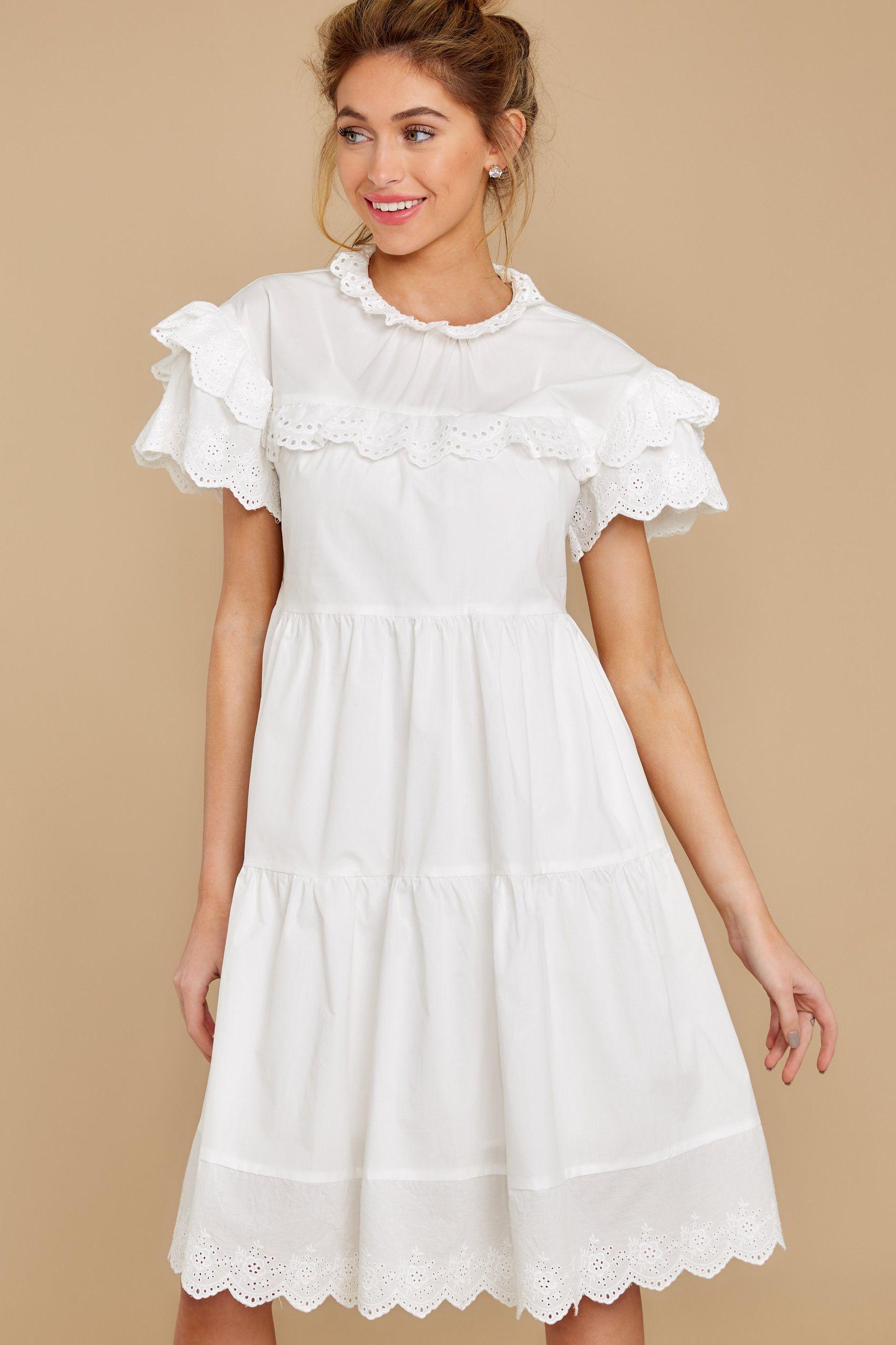 Adorable White Eyelet Dress Short Sleeve Dress Lace Dress 54 Red Dress Dresses Red Dress Eyelet Lace Dress [ 2738 x 1825 Pixel ]