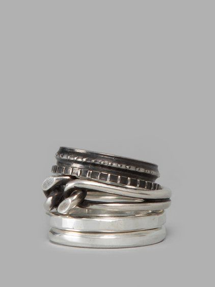 Werkstatt MÜnchen Silver 5 Ring Mixed Combination Rings 100 Mens Productsgermany