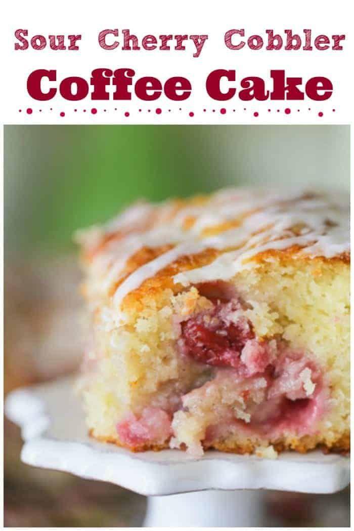 Sour Cherry Cobbler Coffee Cake Sour Cherry Recipes Cherry Recipes Coffee Cake Recipes