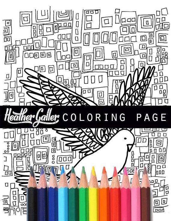 heather galler instant coloring book page diy by heathergallerart