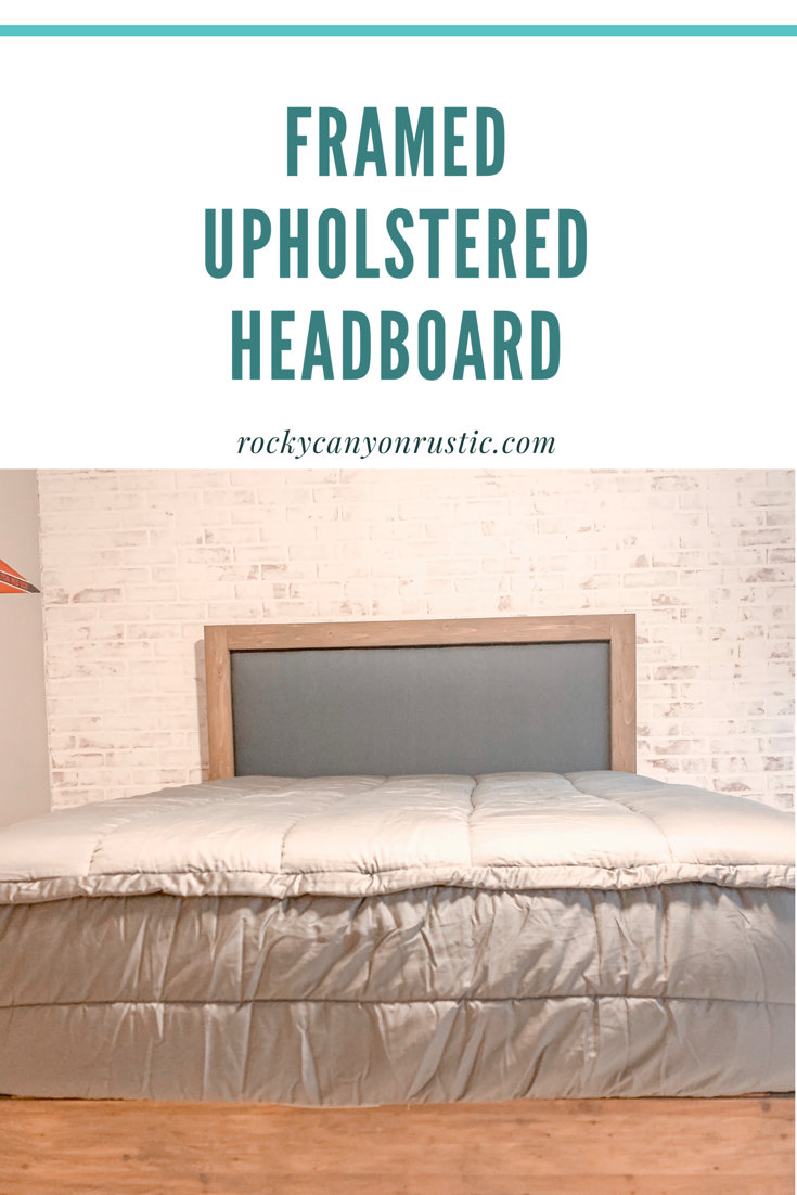 Easy Diy Upholstered Headboard With Wood Frame Upholstered Portion Can Be Removed To Diy Headboard Upholstered Bed Frame And Headboard Upholstered Headboard