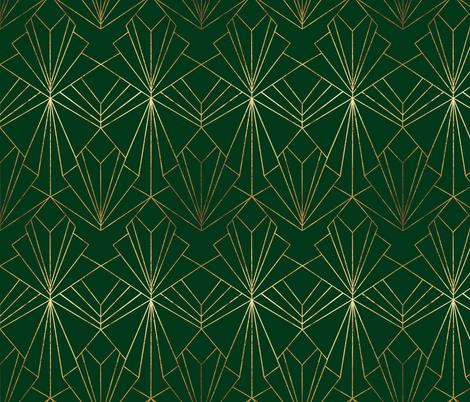Art Deco On Emerald Green Wallpaper Thewellingtonboot Spoonflower Green Art Deco Art Deco Bedroom Art Deco Wallpaper