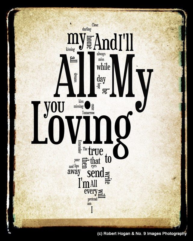 All My Loving The Beatles Yours Lyrics Play That Funky Music