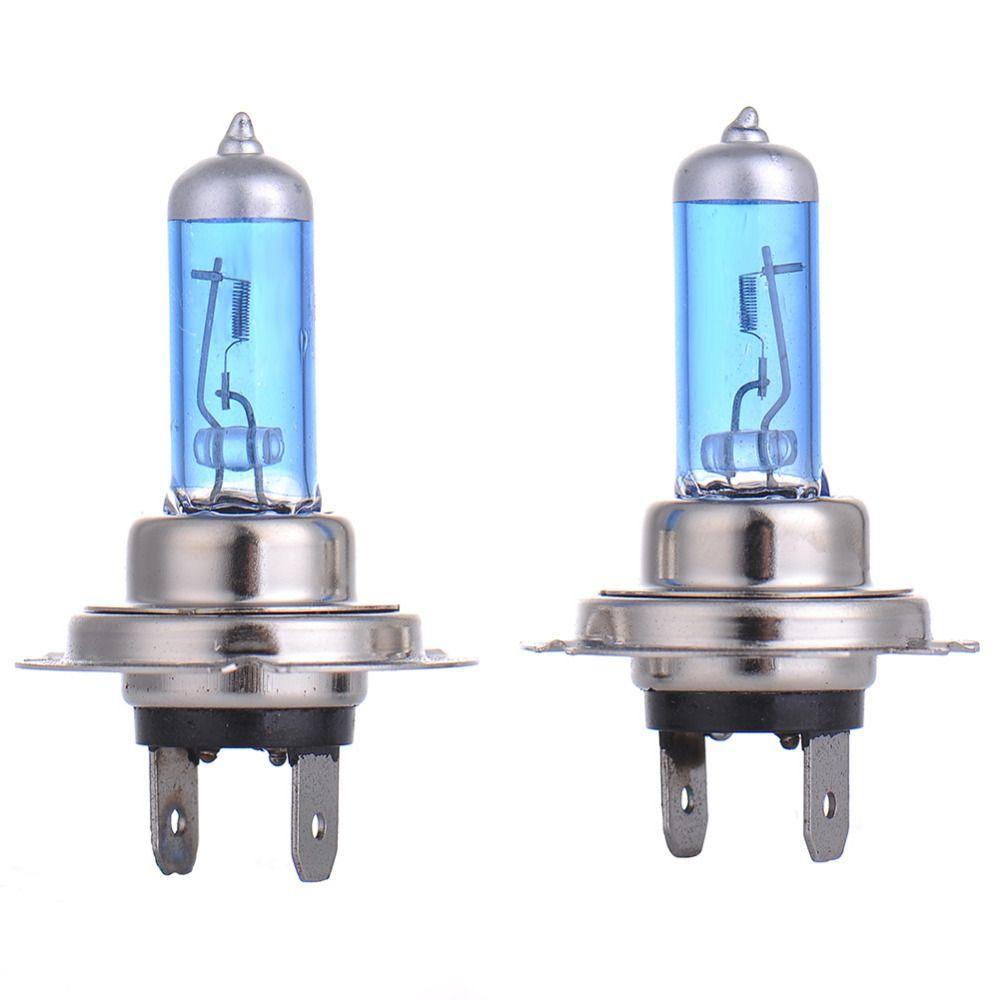 2 Sztuk H7 12 V 55 W Zarowki Halogenowe Reflektory Swiatla Samochodu Jasne 5000 K Bialy Zrodlo Swiatla Lampy Przeciwm Car Headlights Car Lights Headlight Bulbs